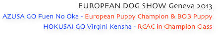 EUROPEAN DOG SHOW Geneva 2013
