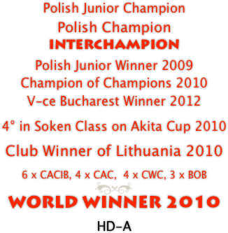 Polish Junior Champion 